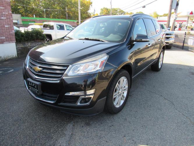 2015 BLACK /Gray Chevrolet Traverse 1LT FWD (1GNKRGKD8FJ) with an 3.6L V6 DOHC 24V engine, 6-Speed Automatic transmission, located at 215 Milton St, Dedham, MA, 02026, (781) 329-5144, 42.241905, -71.157295 - Photo #2